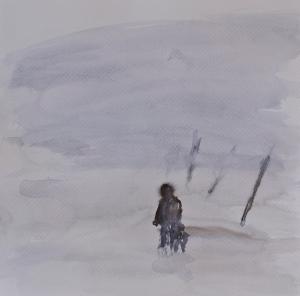 Winterreise, 2020, akvarell på papper